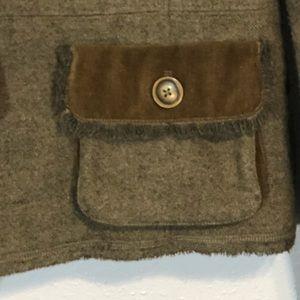 CAbi Jackets & Coats - CAbi wool blazer jacket ruffle size 8